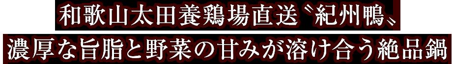 和歌山太田養鶏場直送〝紀州鴨〟 濃厚な旨脂と野菜の甘みが溶け合う絶品鍋